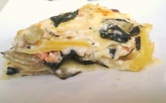Lasagnes blettes et saumon