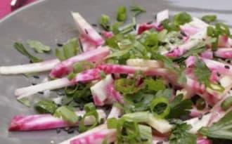 Salade de betterave crue, persil plat et citron