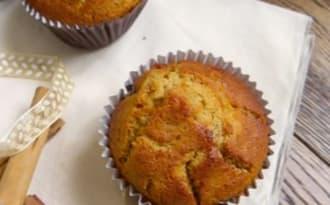 Muffins moelleux aux pommes caramélisées, sarrasin, Calvados et pointe de cannelle