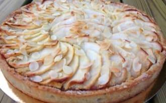 Tarte aux pommes et amandes à ma façon