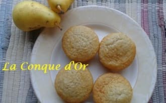 Pandolcini, mi-biscuits,mi-cakes à la poire