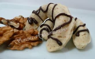 Croissants sablés aux noix