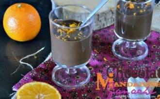 Ganache chocolat noir et mandarine en verrines