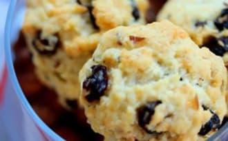Cookies aux pépites de raisin de corinthe