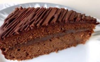 Gâteau au chocolat et à la crème de marrons
