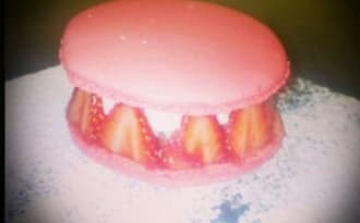 macaron façon fraisier