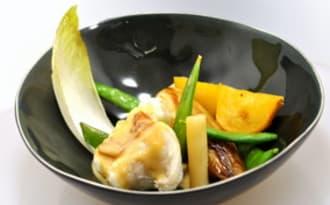Lotte et légumes autour du Faro Lindemans