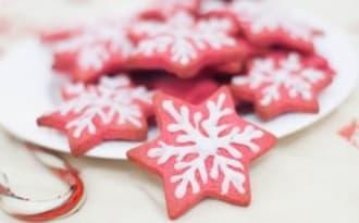Gâteaux de Noël flocons