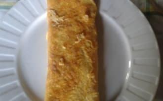 Omelette croustillante au parmesan et jambon