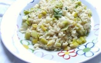Risotto au poireau et au gorgonzola