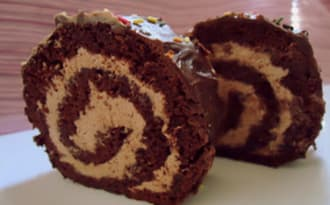 buche au chocolat et aux marrons