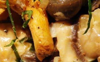 Escargots aux champignons et aux châtaignes