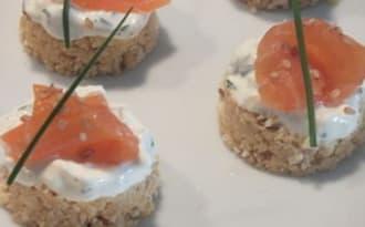 Cheesecakes au saumon fumé