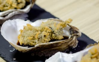 Huîtres panées sauce Tonkatsu