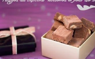 Fudges au chocolat, noisettes et fleur de sel