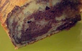 Le marbré mascarpone chocolat et vanille