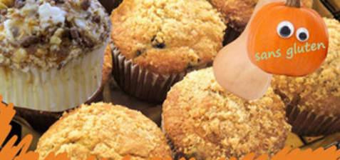Muffins citrouille épicés, crumble sans gluten