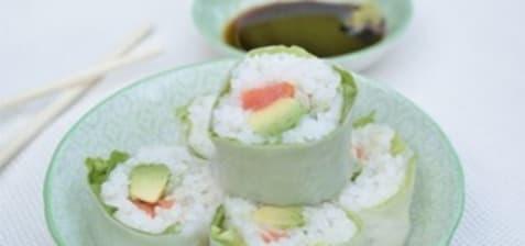Maki verde saumon avocat