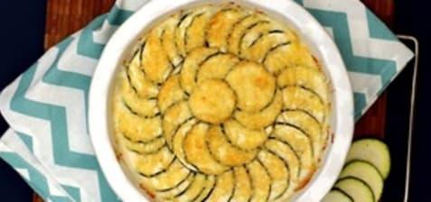 Gratin de pommes de terre et courgettes