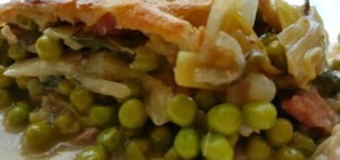 Tourte au poireau et au lapin d'après Jamie Oliver