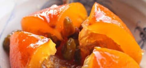 Oranges confites entières à l'iranienne