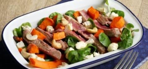 Salade de gigot d'agneau au picodon
