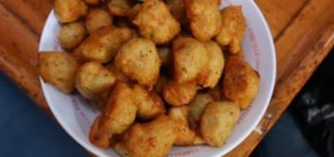 Beignets salés, acras et tempuras
