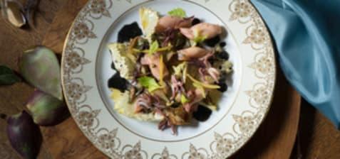 Salade de pistes aux artichauts