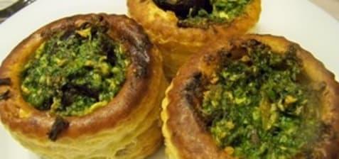 Feuilletés d'escargots au beurre d'ail