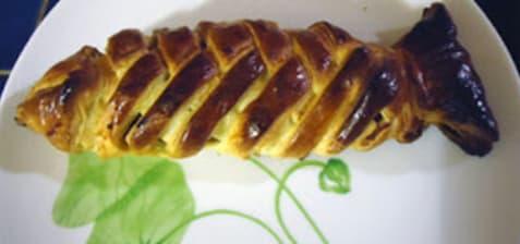 Poisson tressé en pâte feuilletée