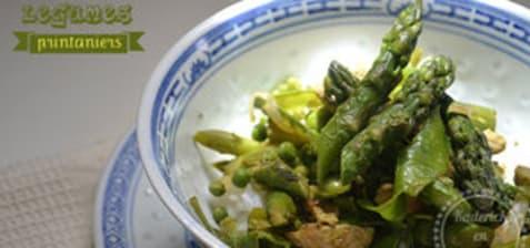 Wok de légumes printaniers bio