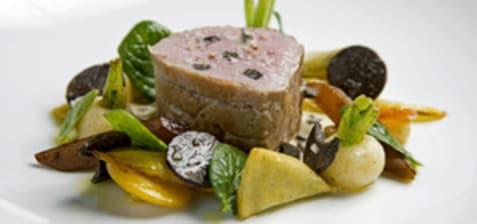 Mignon de veau truffé cuit à la ficelle