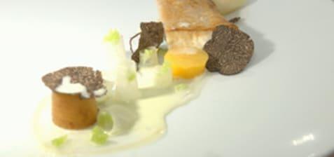 Loup de mer, truffe et rutabaga