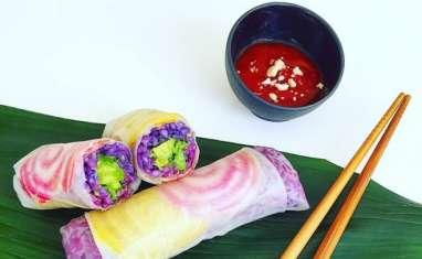 Recette de spring-rolls colorés