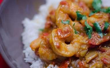 Curry de crevettes à la coriandre
