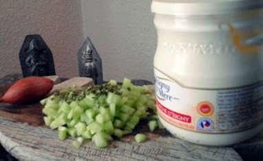 Tartare de concombre, ou de courgette au fromage blanc