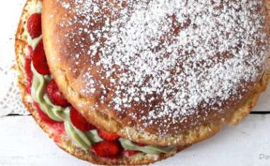 Tarte aux fraises pistache façon tropézienne