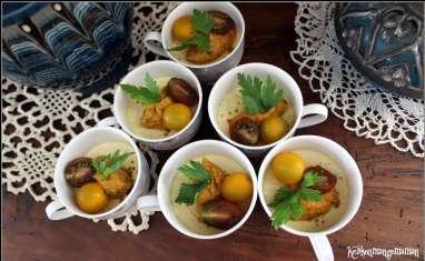 Verrines de panna cotta courgette coco au curry