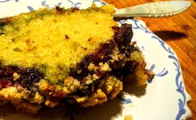 Crumble cake aux myrtilles