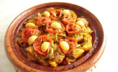 Tagine de poisson pommes de terre et carottes