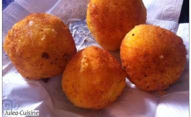 Arancini, boulettes de riz farcies
