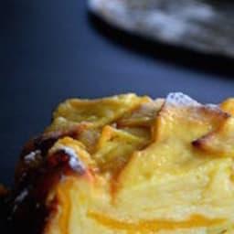 Gâteau fondant aux pommes et à la mangue