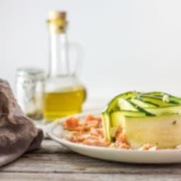 Carpaccio de saumon et courgette