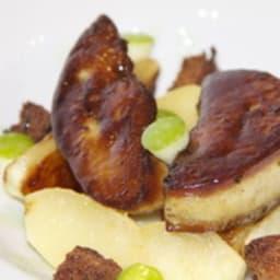 Foie gras poêlé et fraicheur de Granny Smith