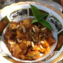 Caponata avec pignons et raisins secs