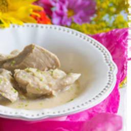 Sauté de dinde créole au rhum et à la noix de coco