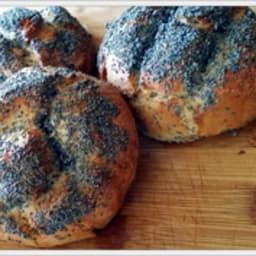 Petits pains sarrasin et graines de pavot