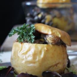 Pommes farcies aux champignons et châtaignes