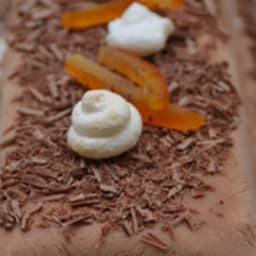 Semifreddo au chocolat praliné et clémentines confites