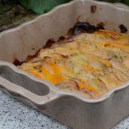 Tian de pomme de terre et courge butternut